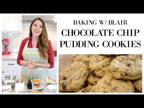 BAKING W/ BLAIR: Chocolate Chip PUDDING Cookies | Blair Fowler