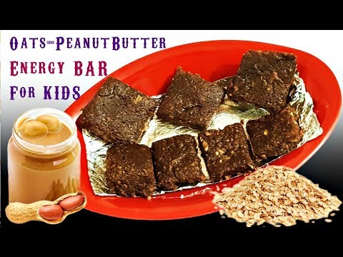 Quick Oats Peanut Butter Energy Bar for Kids | MOM Homemade Healthy Recipes | How to Cook Kids Snack