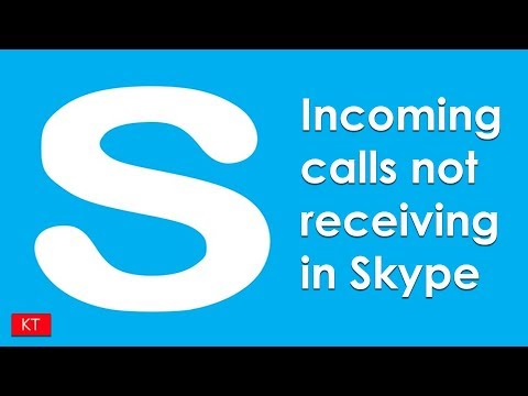 Incoming calls not receiving in Skype in iPhone