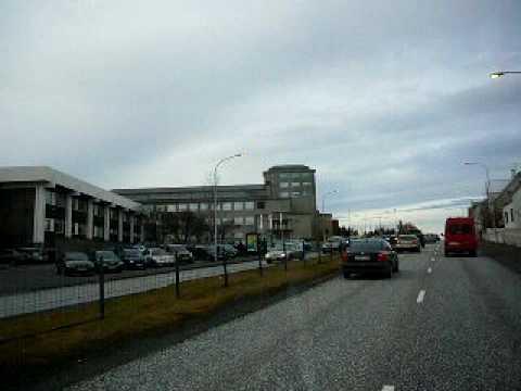 Bus ride in Reykjavik