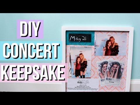 DIY Concert Experience/Memory Shadow Box
