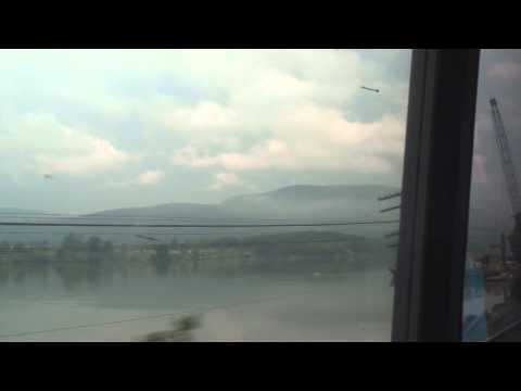 Amtrak Maple Leaf rolling along the Hudson River
