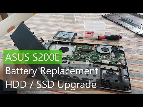 Asus S200E Teardown - Battery And HDD / SSD Removal