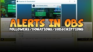 How To Setup Donationfollowsubscribe Alerts In Obs