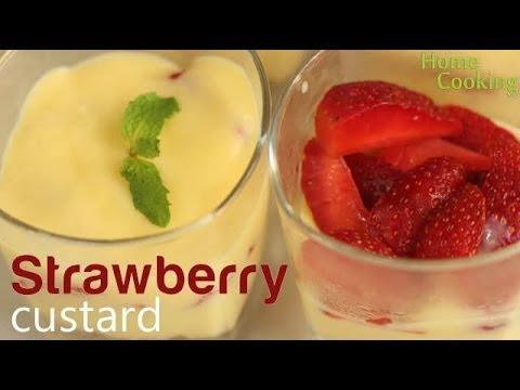 Strawberry Custard Recipe | Ventuno Home Cooking