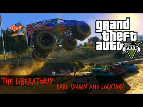 GTA 5 RARE MONSTER TRUCK; (The liberator) Spawn PS4 and Xbox 1