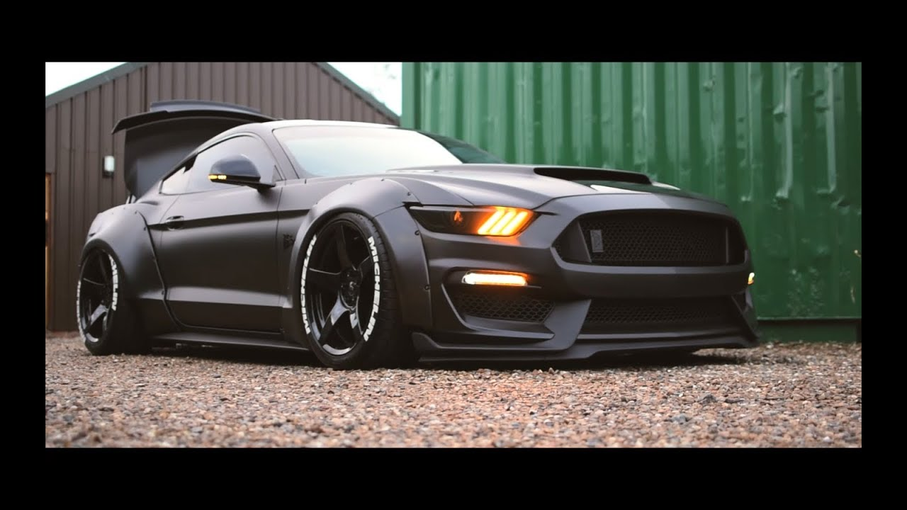 ICON LIVING - UK'S CRAZIEST  WIDE, BAGGED AND BOOSTED FORD MUSTANG Wrap By QuickFlip Styling