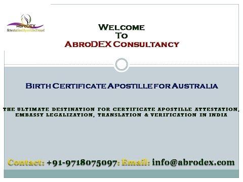 Birth Certificate Apostille for Australia