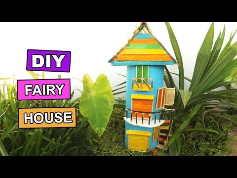 DIY Miniature Fairy Gardens House | Easy Popsicle Stick Crafts For Kids