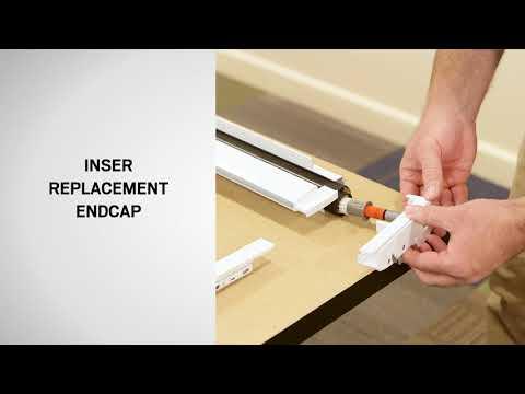 Damper Endcap Replacement on an Andersen LuminAire™ Retractable Screen Door