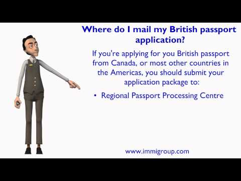 Where do I mail my British passport application?