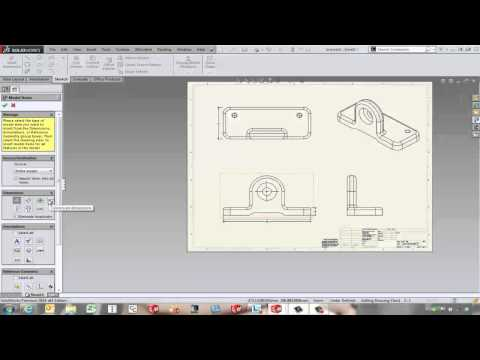 SOLIDWORKS - Inserting Model Dimensions into a Drawing