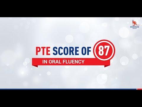 A Gujarati Medium Student got 87 in Oral Fluency in PTE Exam
