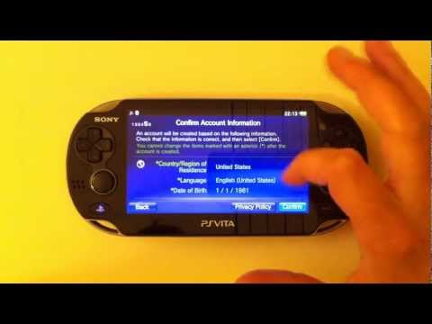 Creare Account PSN Americano (USA) con PS Vita Europea Pal - Tutorial