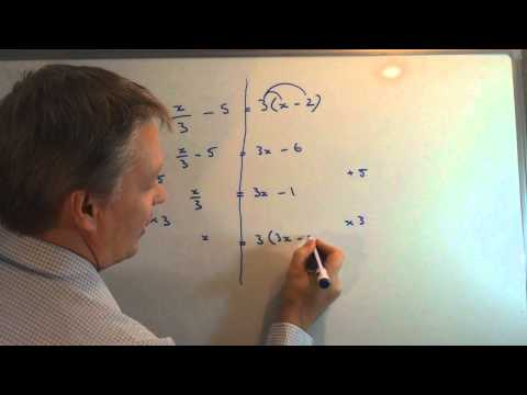 How to solve linear equations with fractions and brackets