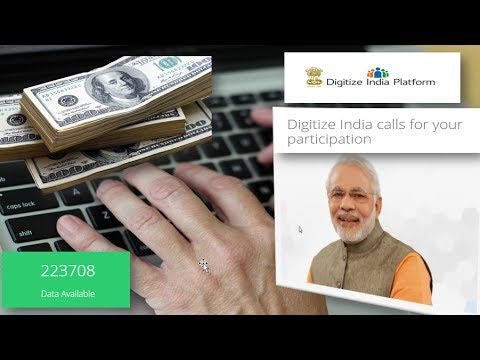 How to Earn money at home from  Digitize India Platform by Govt (100% GENUINE).DIP