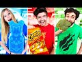EXTREME One Color Food Challenge 24 Hours