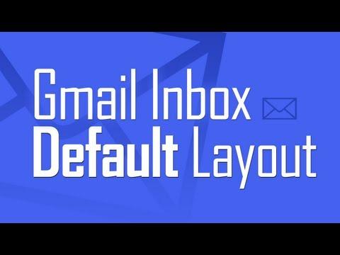 Restore default Gmail inbox layout