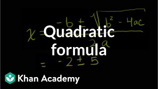 How to use the quadratic formula | Polynomial and rational functions | Algebra II | Khan Academy