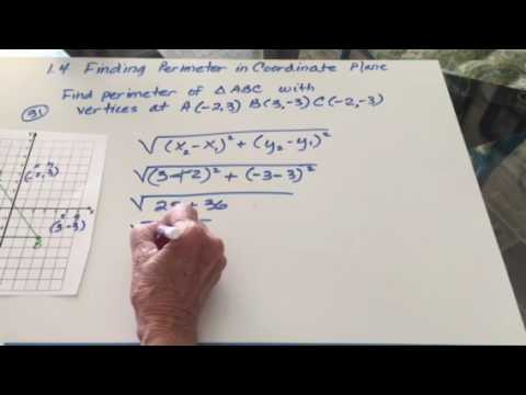 Finding perimeter in the coordinate plane