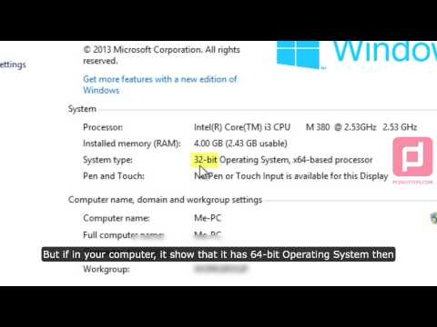 Checking If Windows 8 32 or 64-bit Operating System