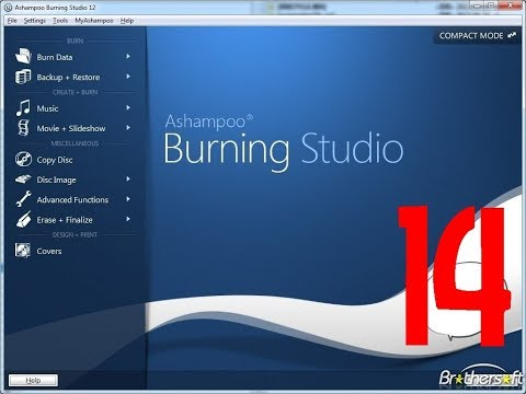 Ashampoo Studio 14   How to burn files to cd,dvd