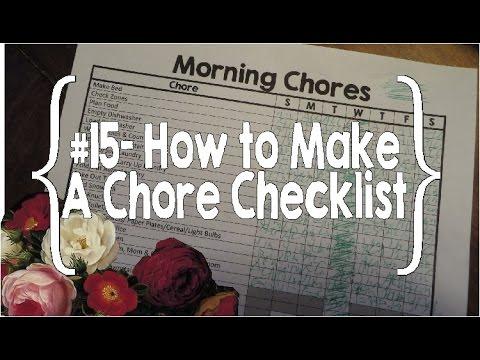 How to Make a Chore Checklist- #15