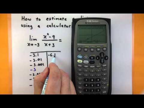 Calculus - Estimate a limit using a TI-89 calculator