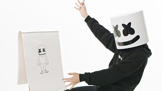 How To: Draw a Marshmello Cartoon