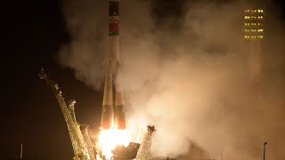 Soyuz Launch Carries Three Space Travelers to the International Space Station