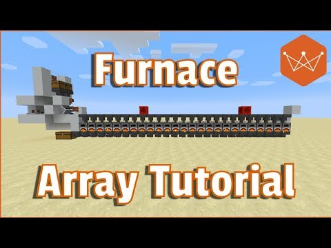 Minecraft Tutorial Furance array for 1.12 easy to build with 25 furnaces