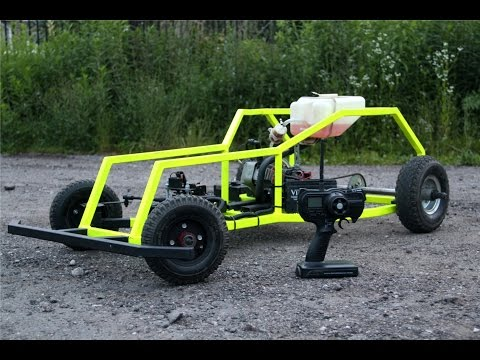 Homemade RC R/C Car Big scale 50cc Project POGROM