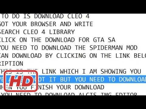 how to download Gta San andreas spiderman mod 100% working