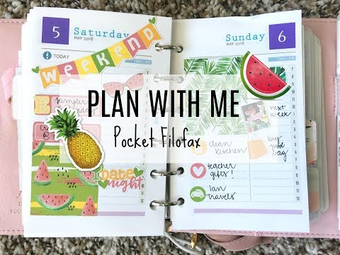 PLAN WITH ME | Pocket Filofax | Marsia Bramucci Inserts
