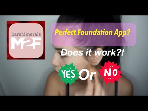 Review on Made-2-Fit App  Bare Minerals Foundation