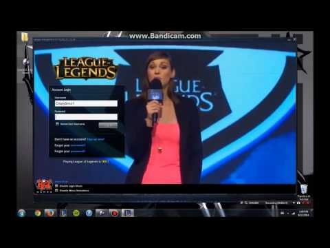 How to change your LoL Log in screen