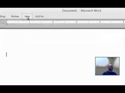 Microsoft Word 2010: Ribbon, Rulers and Gridlines