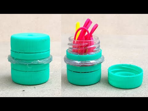How to Make a Bottle Cap Container - DIY Recycled Bottle Crafts