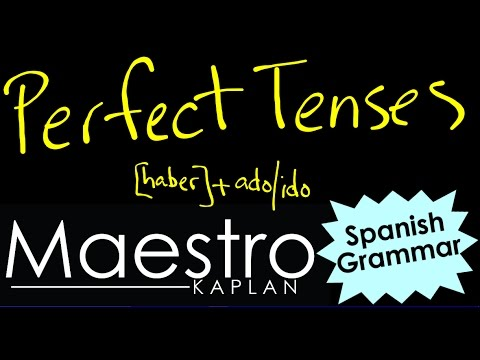 A Summary of the PERFECT TENSES in SPANISH [haber] + past participle