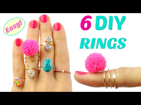 6 DIY Rings | Adjustable & NO Tools! | Easy rings