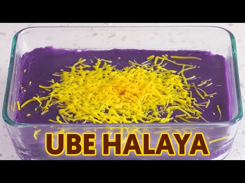 Ube Halaya with Cheese - Panlasang Pinoy