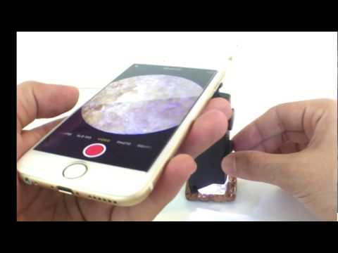 Mini Pocket Microscope for iPhone  100x scope