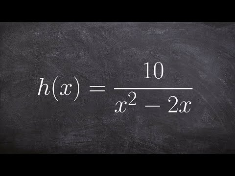 Finding the implied domain with a quadratic denominator of a rational function