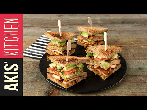 Vegetarian Club Sandwich | Akis Kitchen
