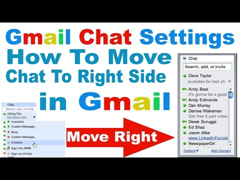 How to MOVE Chat List to Right Side in Gmail In Hindi/Urdu