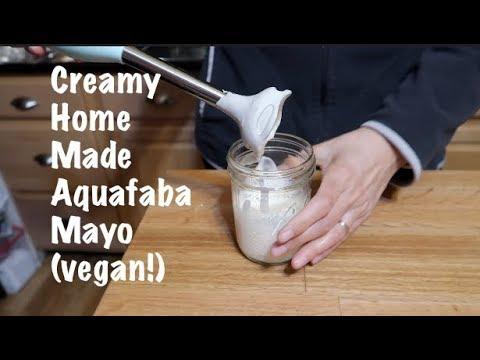 Creamy Homemade Aquafaba Mayo (vegan!)