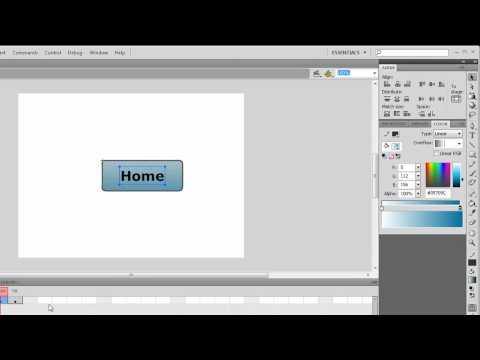 Adobe Flash Tutorial: Basic Button (ActionScript 2 & 3)