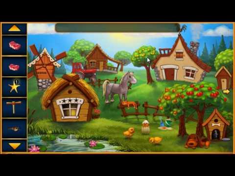 Escape Game Cartoon Village Walk Through - FirstEscapeGames