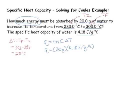 Specific Heat Capacity - Solving for Joules