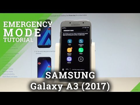 How to Enter Emergency Mode in SAMSUNG Galaxy A3 (2017) - Alarm Mode |HardReset.Info